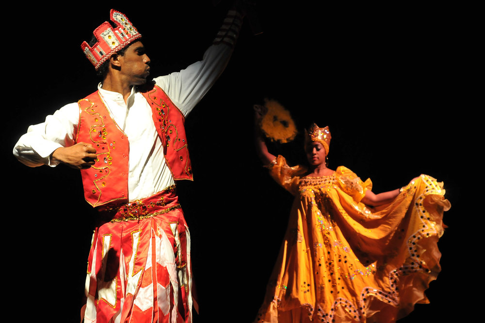 The Cuban versions of Òrìṣà Ṣàngó and Ọ̀ṣun on stage. 'People's Choice', photo: Knight Foundation, CC BY-SA 2.0