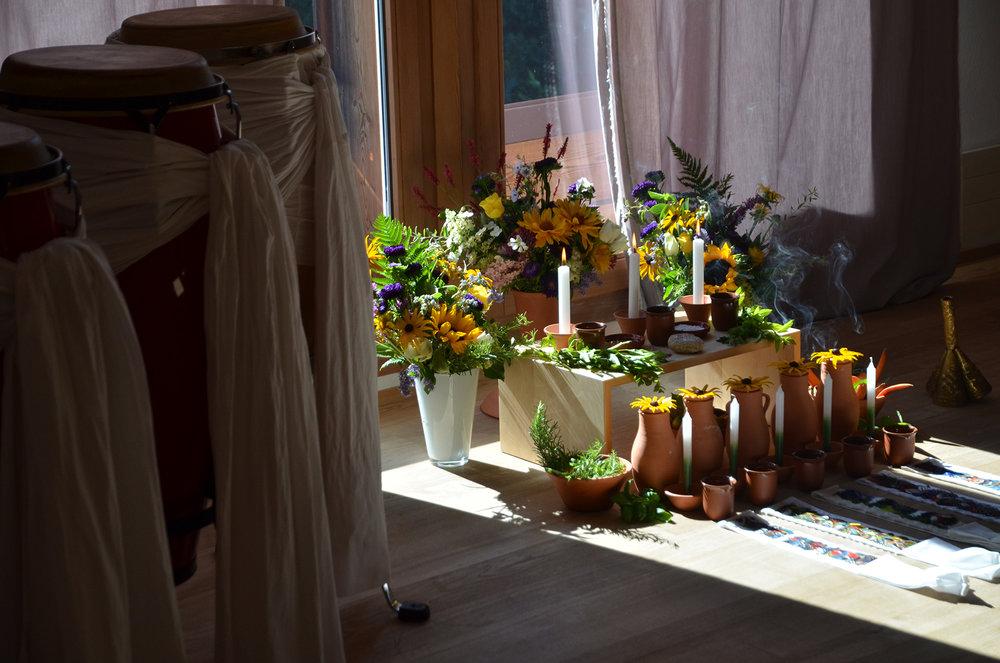 Oferendas for an initiation ceremony into Caboclos and Caboclas. © terra sagrada