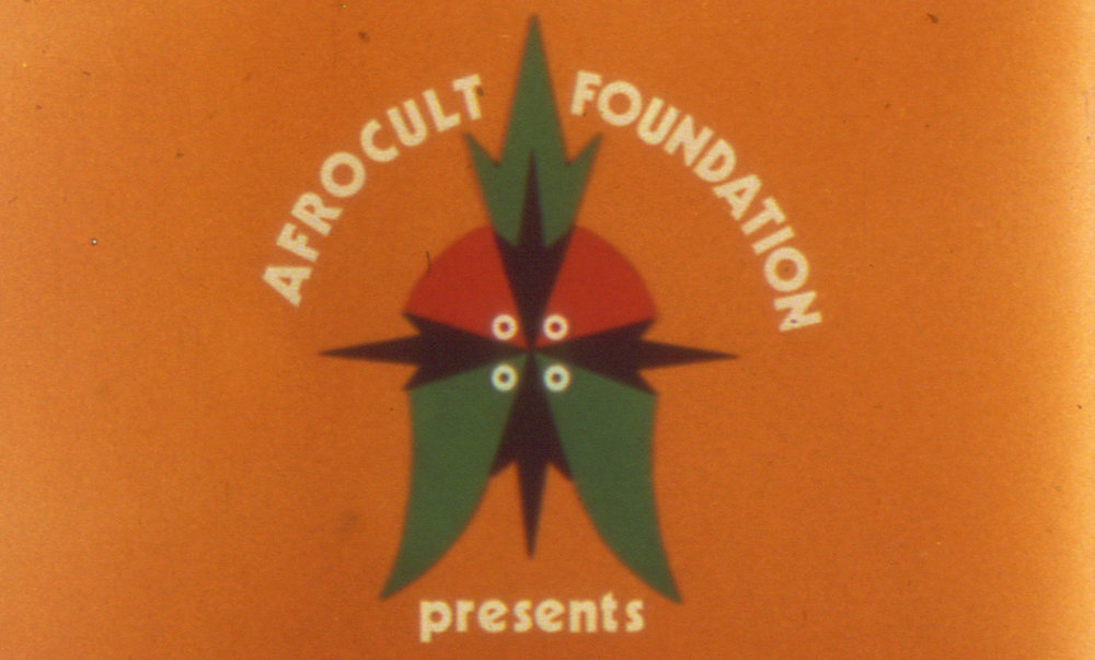 The Logo of the Afrocult Foundation from a filmstill. © Ọlá Balógun/Filmkollektiv Frankfurt