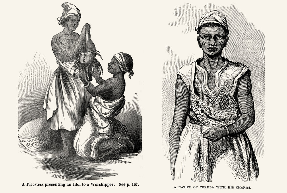 Compared to other book illustrations from that time, the missionaries' portraits of African people show them with dignity and respect.