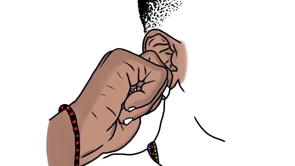 earlobe, yoruba, orisha, body language, gesture, yoruba prayer, yoruba songs, ooni, ile-ife