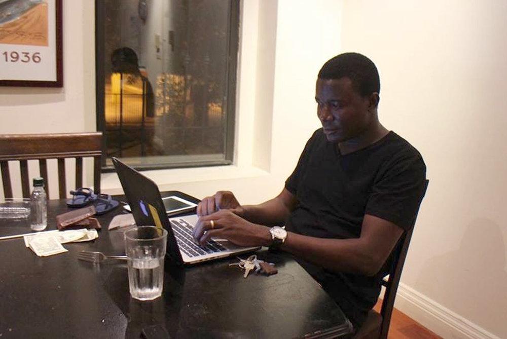 We met Yorùbá linguist and poet Kọ́lá Túbọ̀sún for a talk in his home office in Lagos, Nigeria. ©Kọ́lá Túbọ̀sún