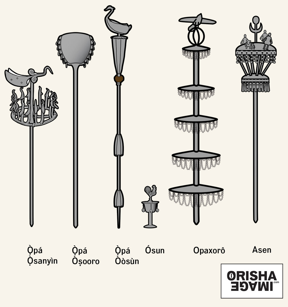 Yorb Iron Walking Sticks Orisha Image