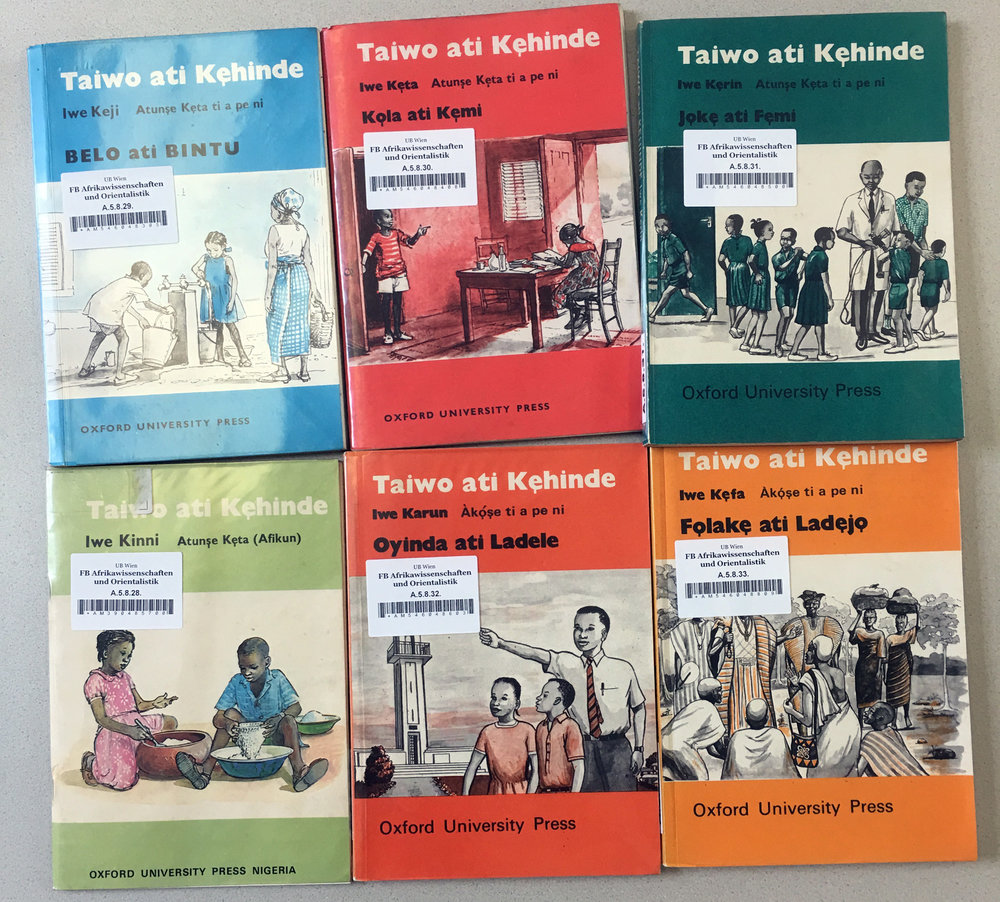 Taiwo ati Kehinde, educational Yorùbá language books for children, are available in re-editions today. ©Orisha Image