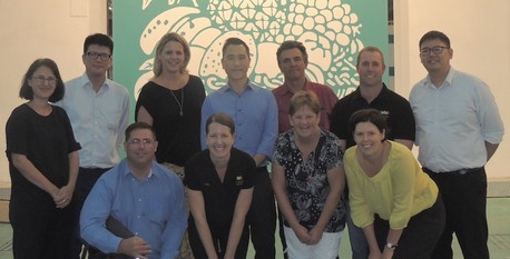 Queensland strawberry delegates with importers in Hong Kong