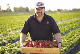Anthony Yewers, berry farmer from Bullsbrook, WA.  Last season Anthony was short up to 50 workers, which saw about 30% of his crop go unpicked.  Photo source: National Farmers Federation