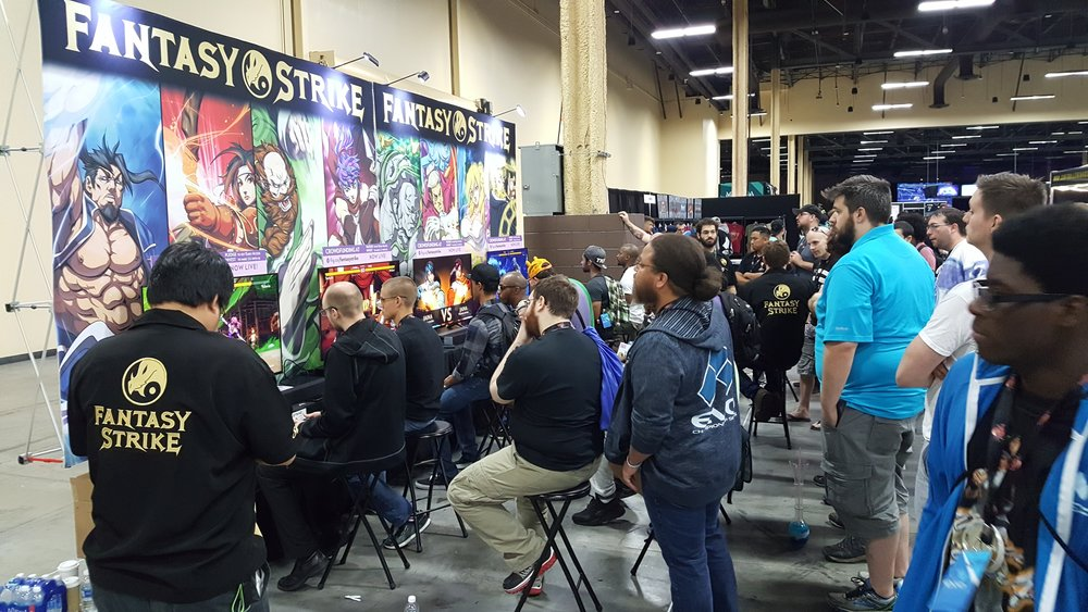 Fantasy Strike booth at Evo 2017. Busy the whole time.