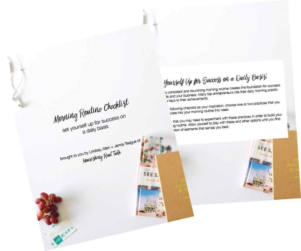 Nourishing Real Talk - Morning Routine Checklist