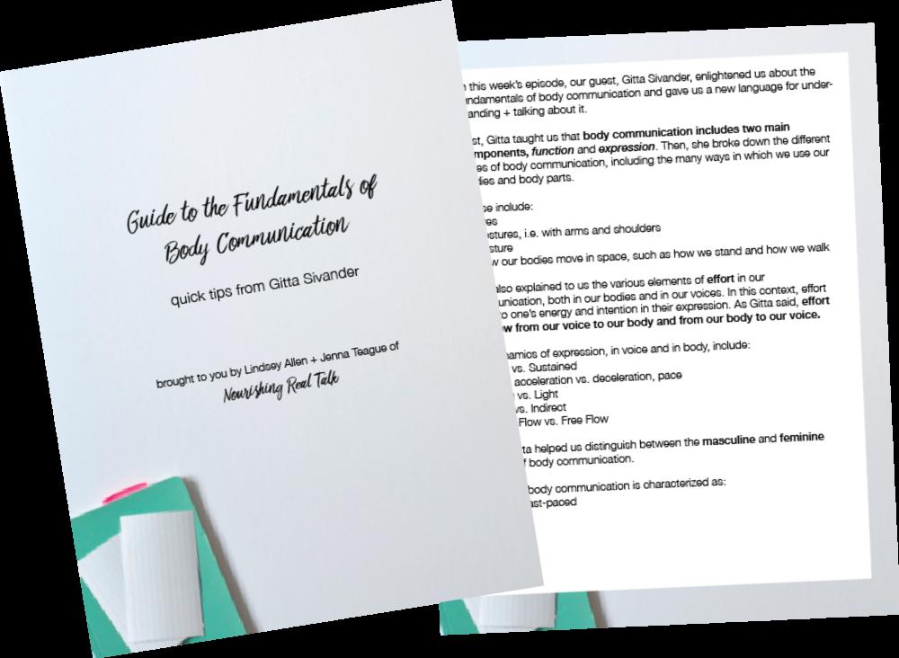 Nourishing Real Talk - Fundamentals of Body Communication