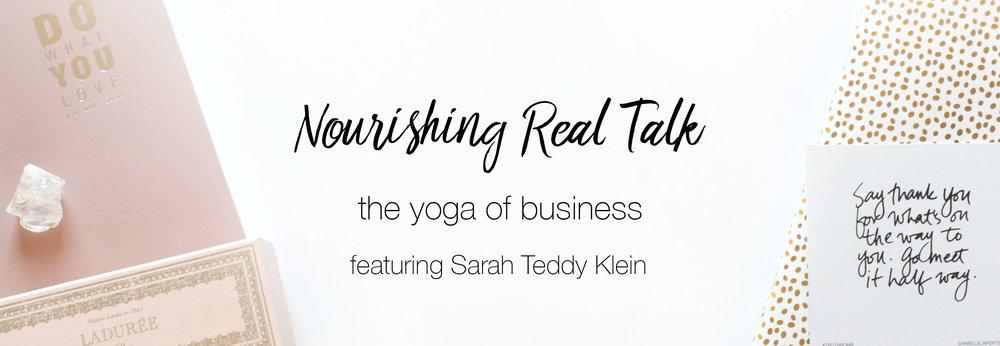 Nourishing Real Talk featuring Sarah Teddy Klein