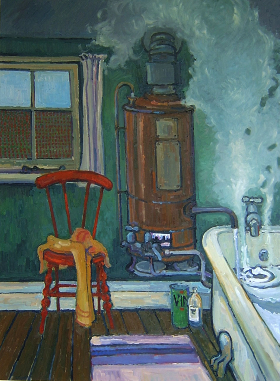 BATH TIME 1960  OIL.JPG