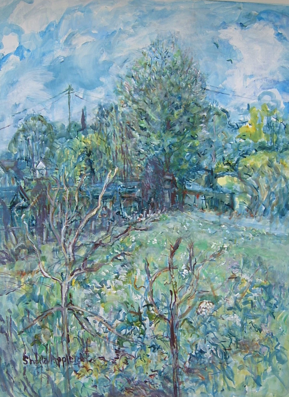 WET SPRING Wickham Bishop  Acrylic  31X23 ins  £350 - Copy - Copy.JPG