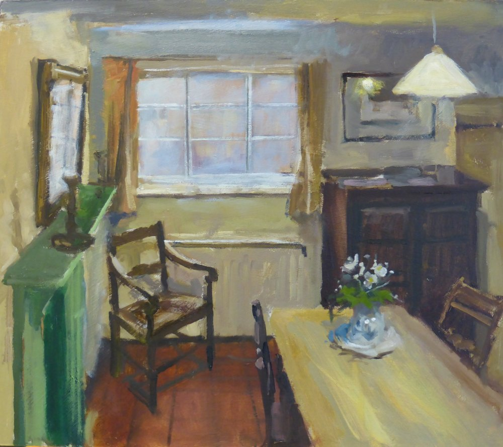 The Kitchen at St Mary%27s Lane - Oil on board 30cm x 35cm.JPG