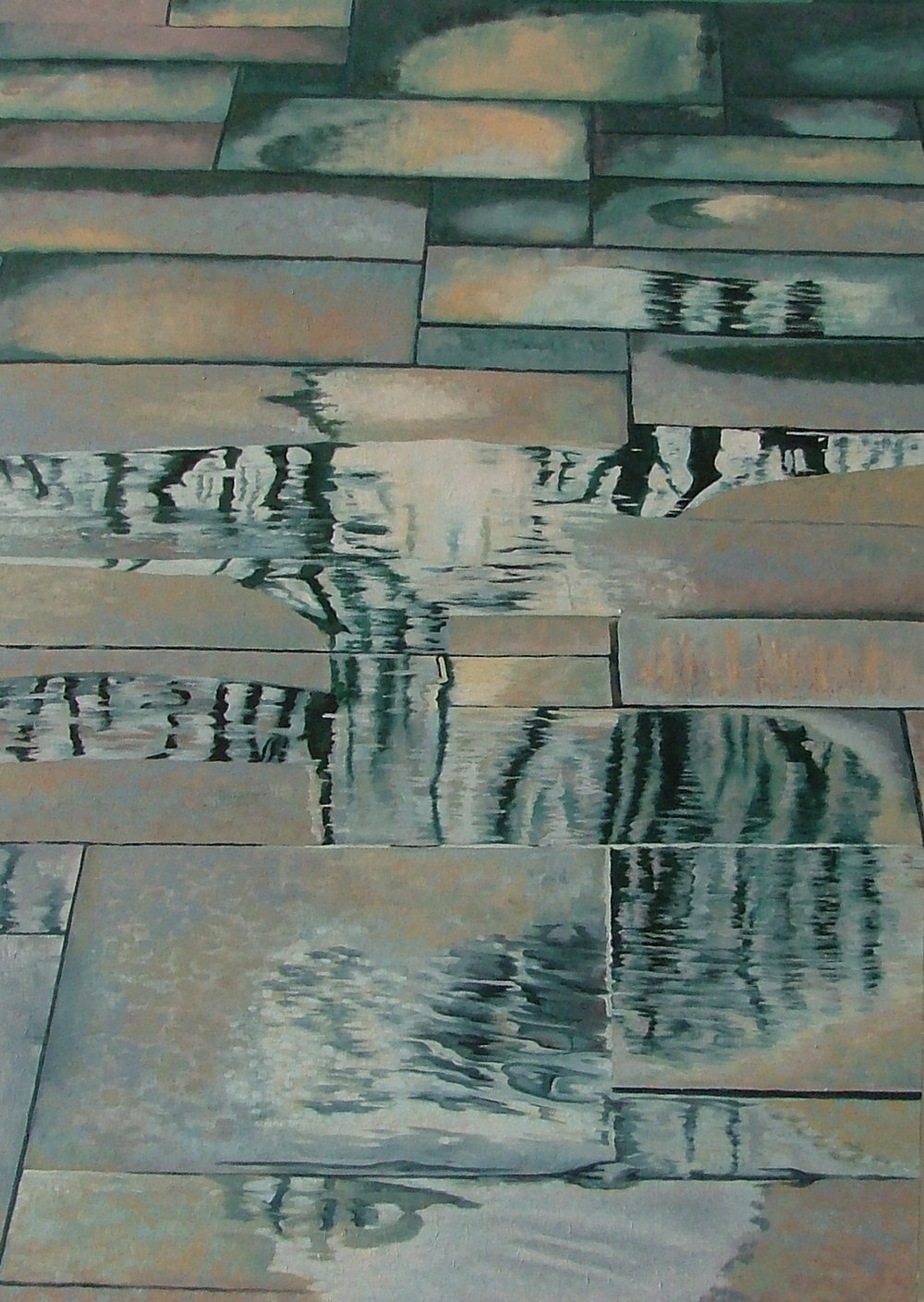 AsH. Trees in Puddles. Oil. 80x60cm.JPG