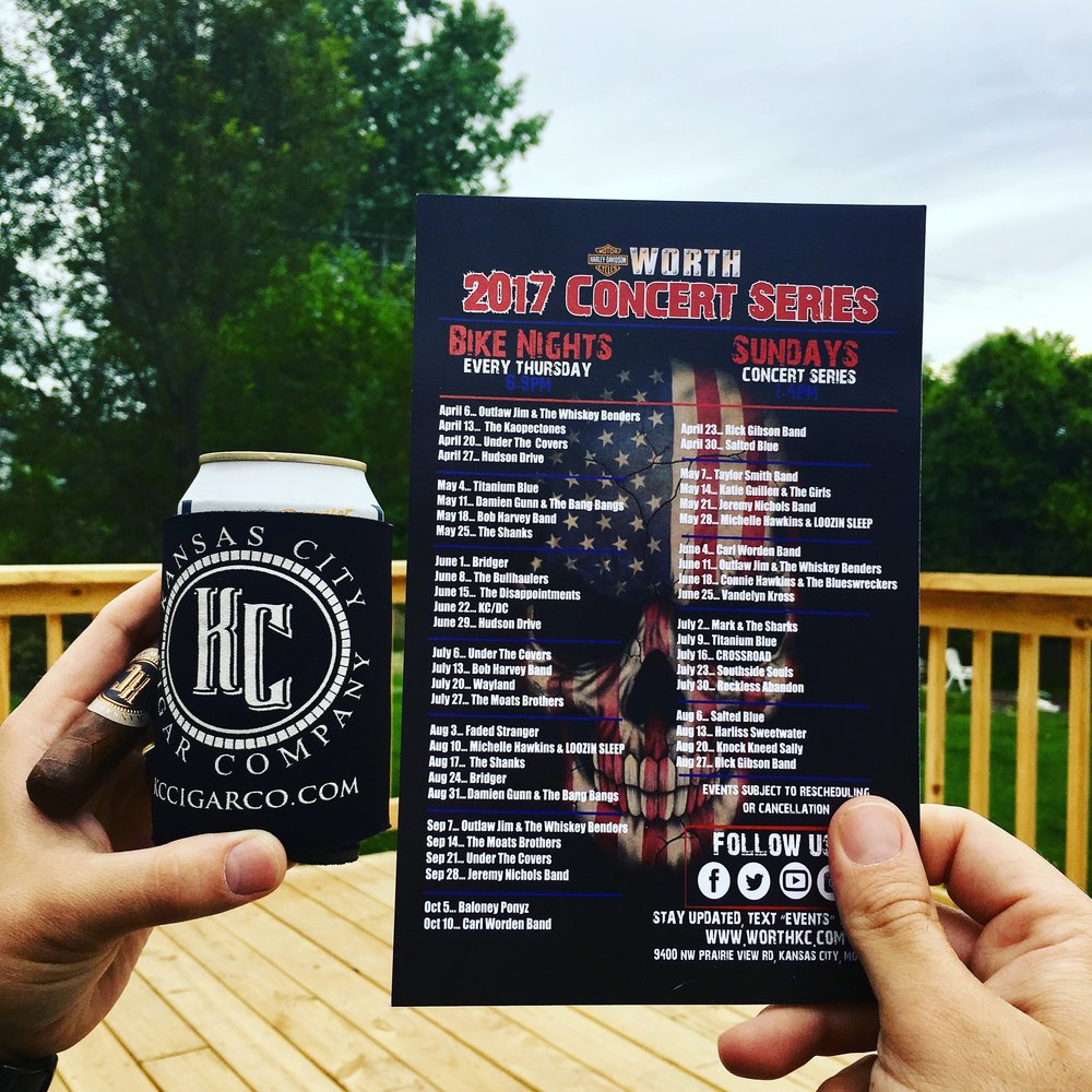 7.6.17- WORTH HARLEY DAVIDSON (6-9 pm) - Bikes, Beers, and Gars! We're excited to celebrate Bike Night at Worth Harley Davidson Thursday, July 6th at 6:00PM. Wayland the Band will be keeping the spirit alive while we hang out and sell cigars. Come find us!!