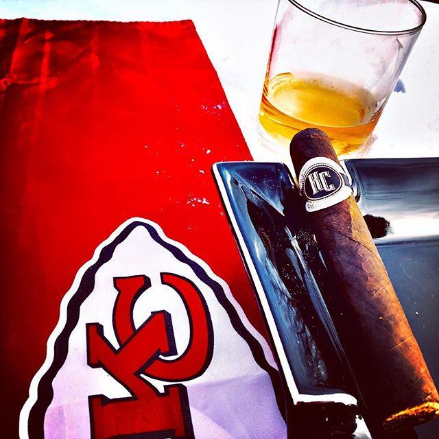 Light em' up! This is how we game day prep!!! 🏈 🥃 CHIEFFFSSSS!  #chiefs #chiefskingdom #kansascity #kcmo #cigar #cigars #kcgameday #kccigarco www.kccigarco.com