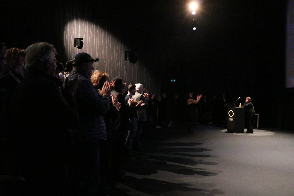 long-standing ovation for Heddy Honigmann - Shortcutz Amsterdam Career Award 2018 |Photo credits: Magda Lepczyńska