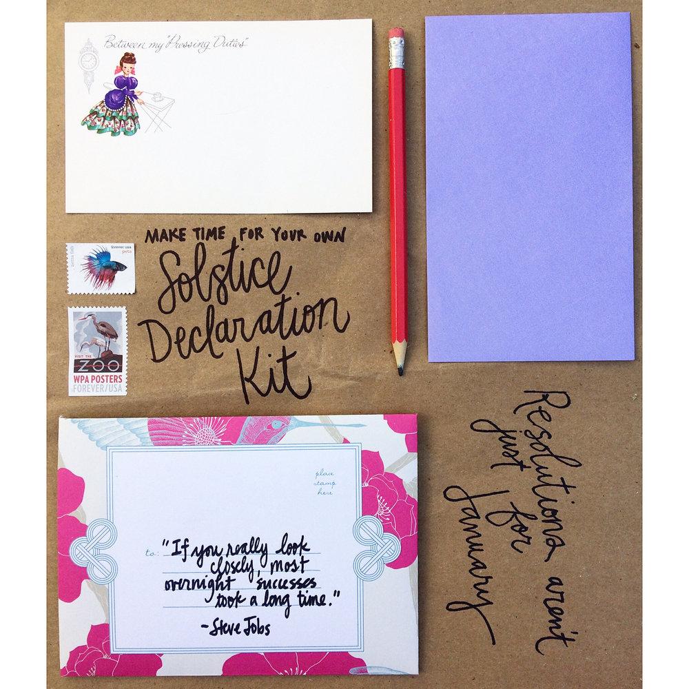 Prepare: Solstice Declaration Kit