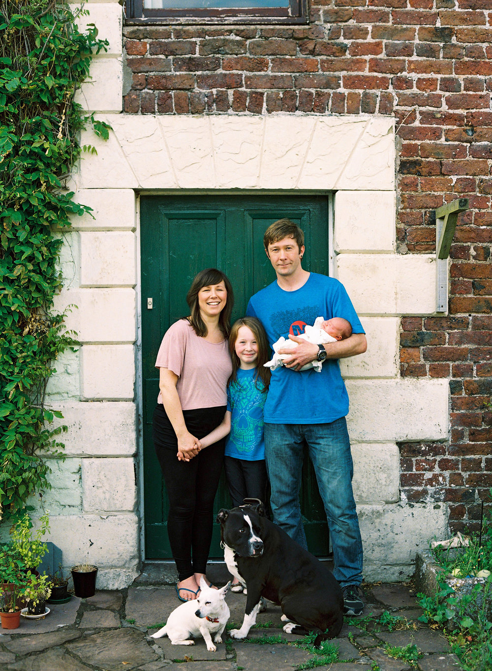 country cottage newborn photos | Cumbria - Martha was less than a week old in these photos, see the family welcome her home.