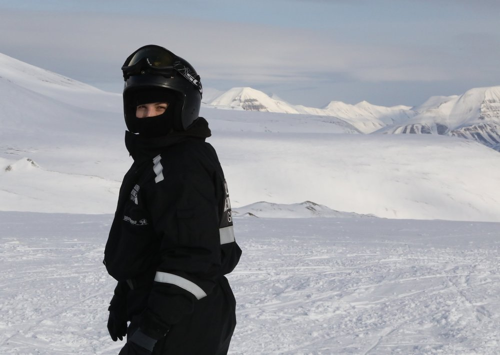 Svalbard, snowmobiling in -15°C