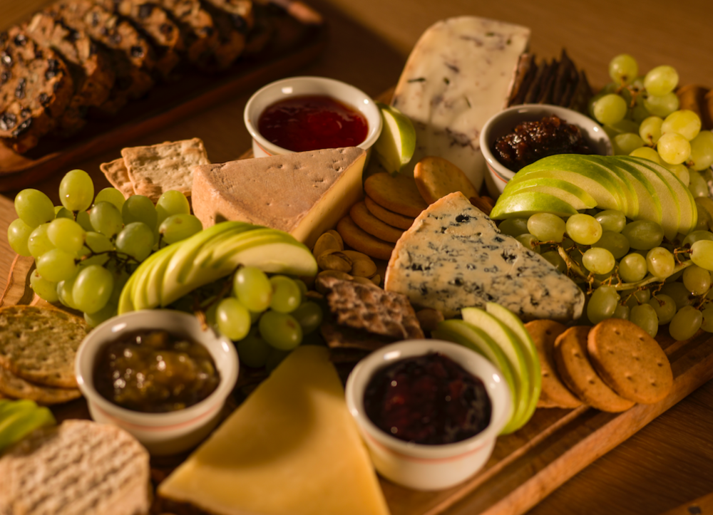 Norwegian Cheese Board with Freshly Baked Scandinavian Rye