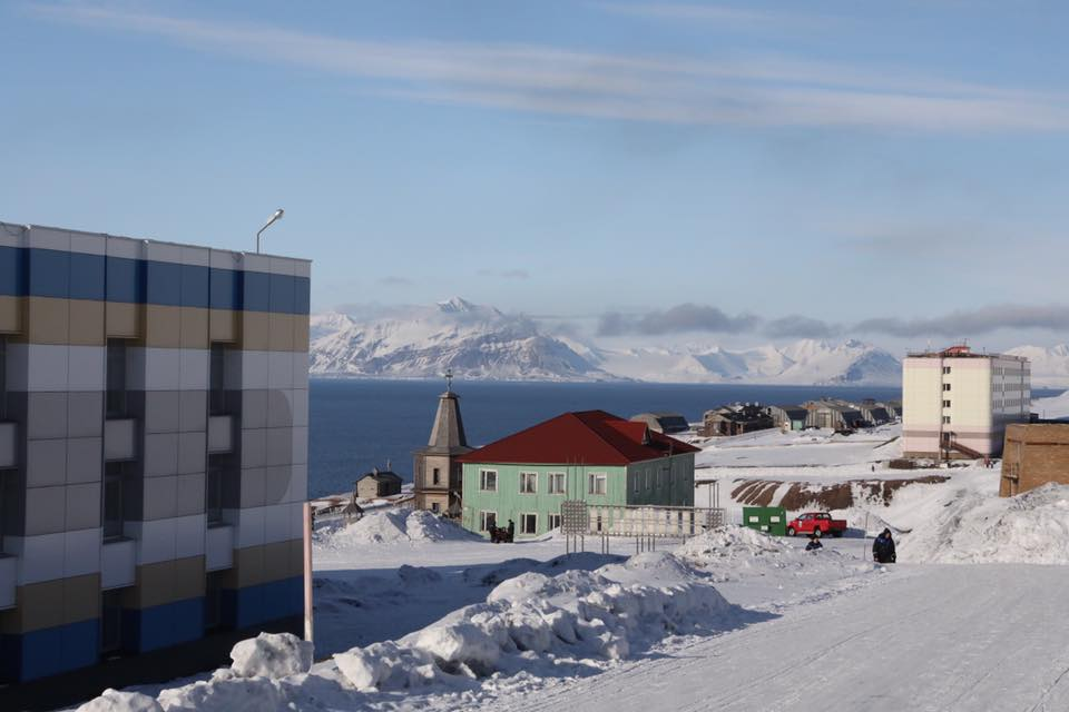 - Barentsburg, cole mine settlement on Svalbard