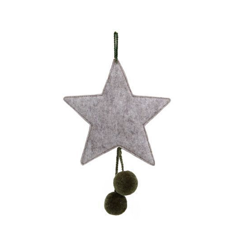 MUSKHANE STARS WITH POMPONS    (more colors available)   BEFORE €11 / NOW €6,60