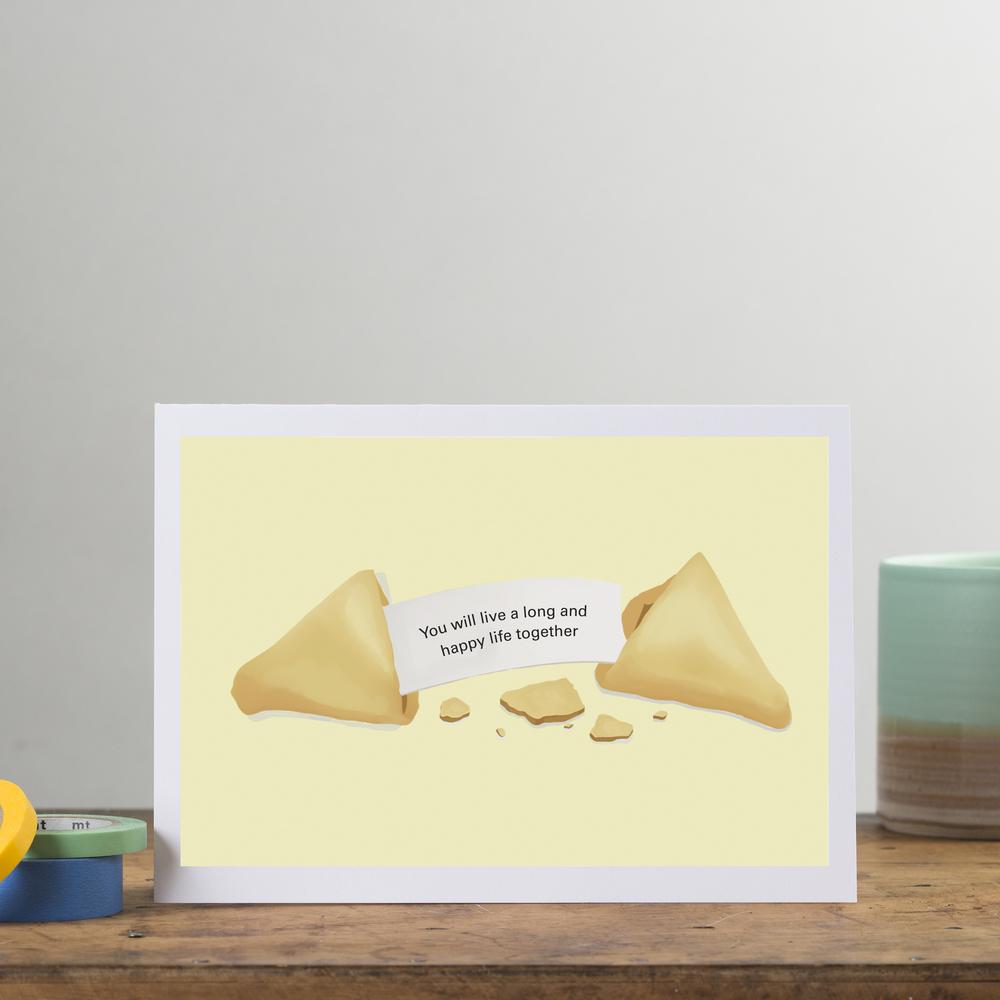 Personalised fortune cookie wedding card