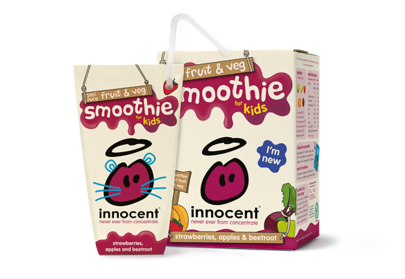 Kids fruit & veg smoothie packaging