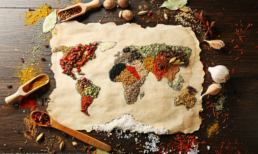 food sourcing from all over the world