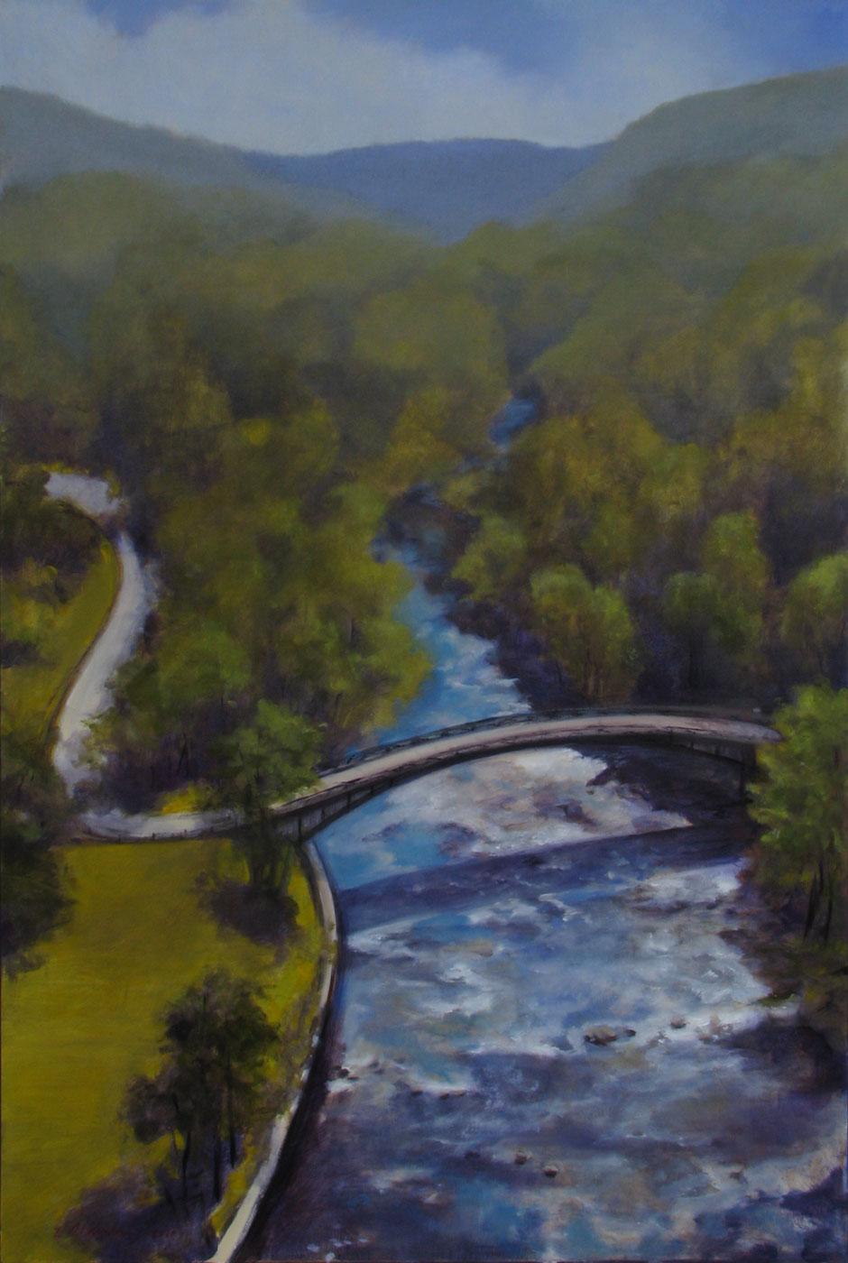 Croton River from Croton Dam, NY