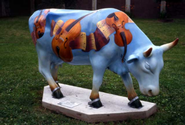 """A MoozArt Moment"" created for the Cow Parade in Harrisburg, PA. 2004"