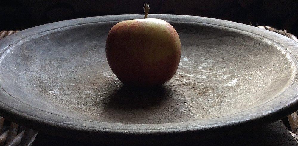 vintage incised wooden bowl