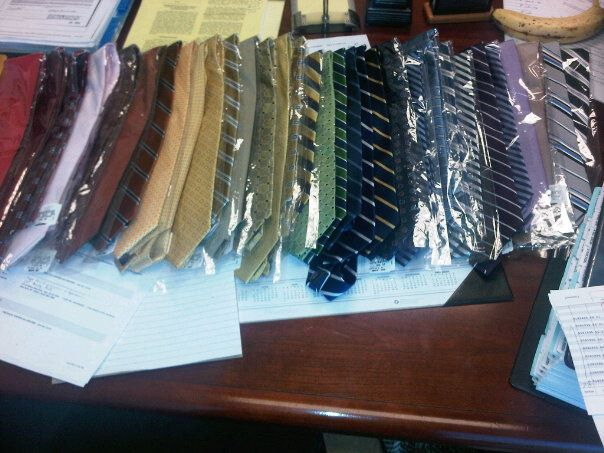 Jon's tie order, via his Facebook.