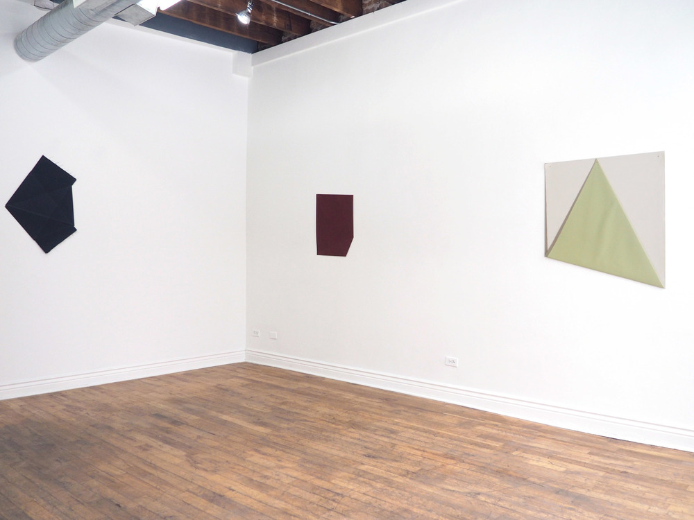Installation view,  fit, fold, and finish ,   2015 Fernwey Gallery, Chicago, IL,