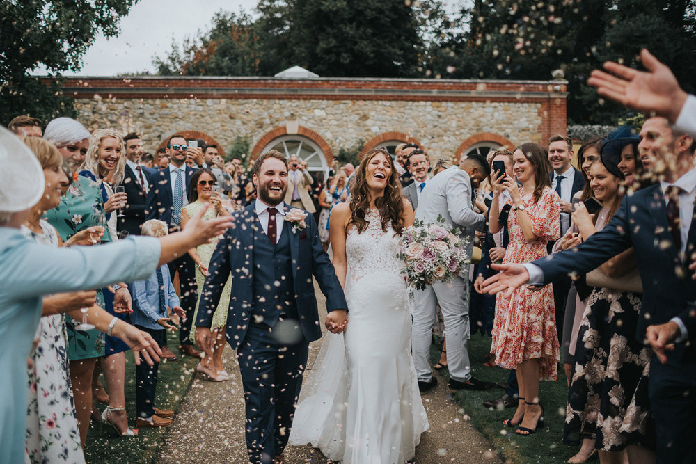 The Orangery Maidstone Confetti Shot Photos