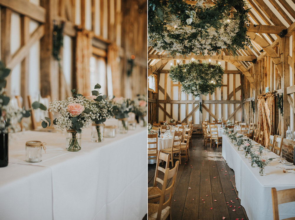 Gate Street Barn Wedding Set Up Details Tables
