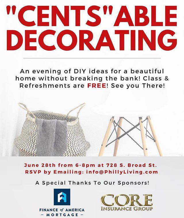 Don't forget to sign up for Cents-Able Decorating! DIY ideas for a beautiful home without breaking the budget! We'll tackle lighting, furniture, flooring, accessories & more! Link to secure your seat is in the bio! ☝🏼