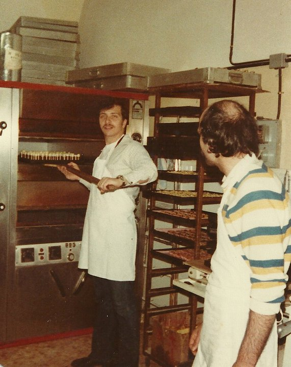 John Gallo as a young man learning the business.