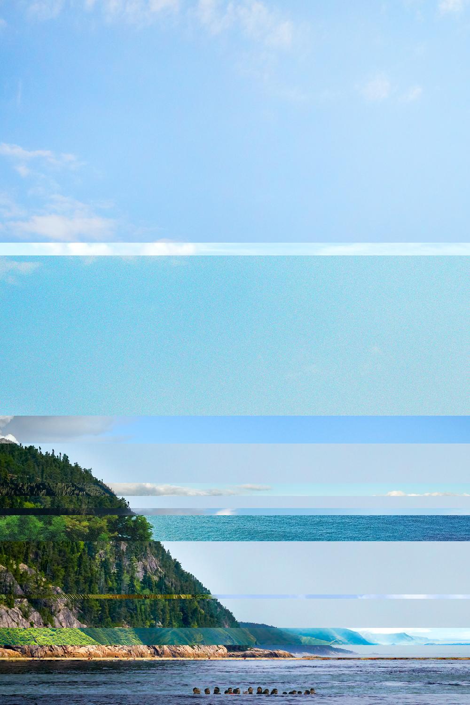 Tadoussac    Série Visually similar images   2014-2015   épreuve numérique montée sous   Plexiglas    76,2 x 50,8 cm. 1 de 1.