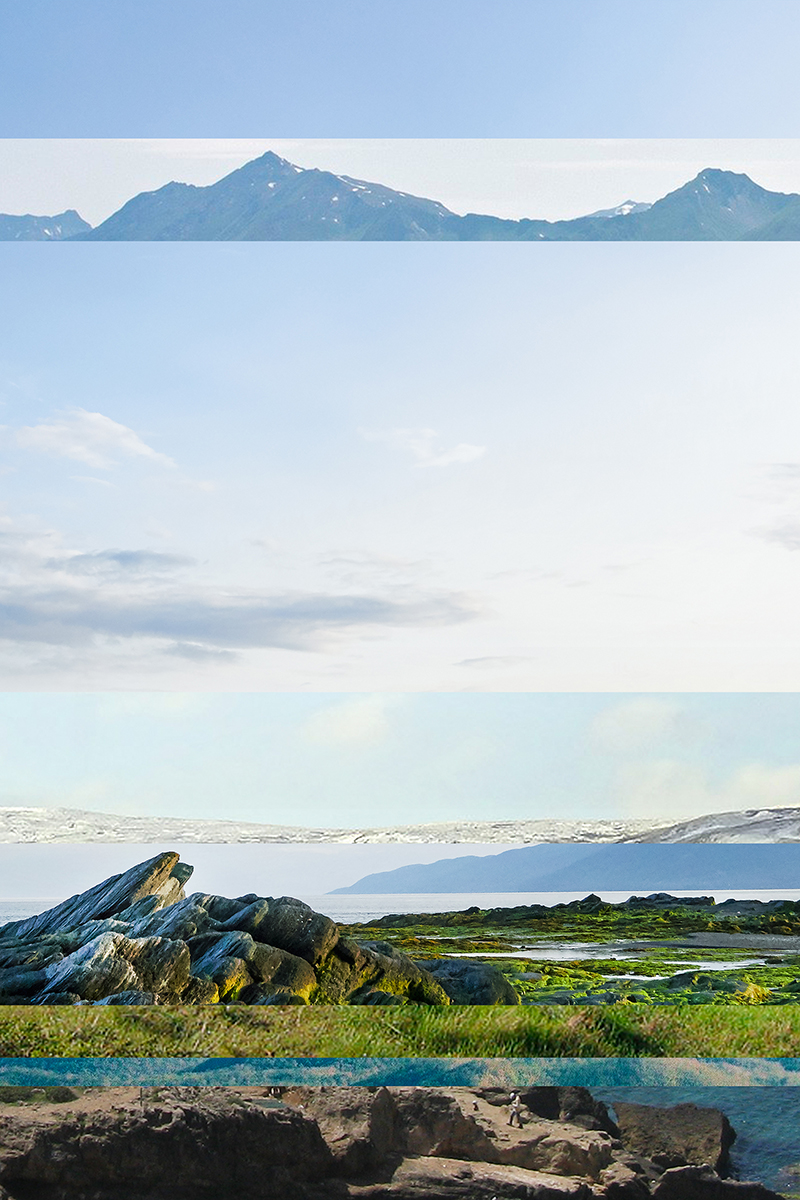 Isle-Aux-Coudras    Série Visually similar images  2014-2015 épreuve numérique montée sous Plexiglas  76,2 x 50,8 cm. 1 de 1.