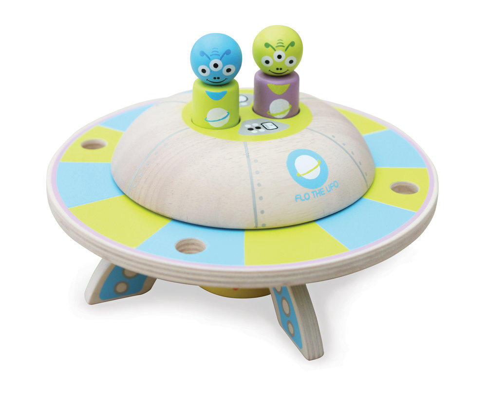 Flo the UFO Wood Playset $40