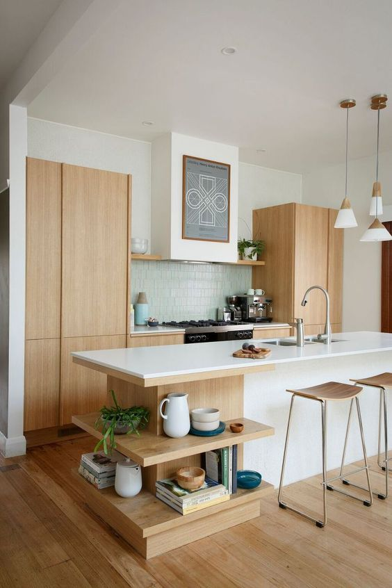 Modern and Simple Kitchen. Beautiful.