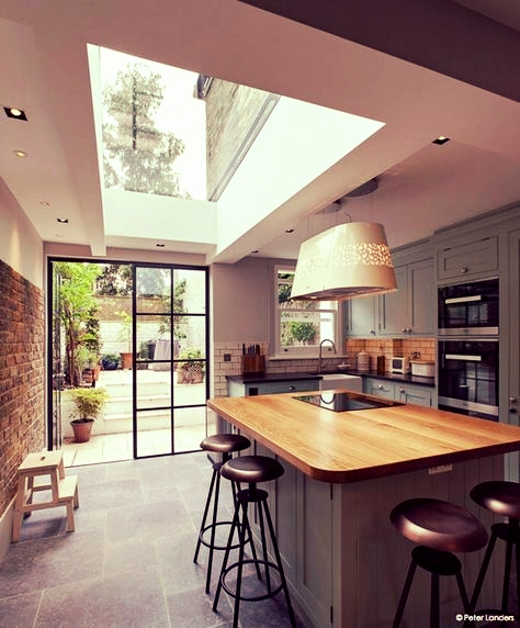 Modern Bespoke Kitchen with Skylight