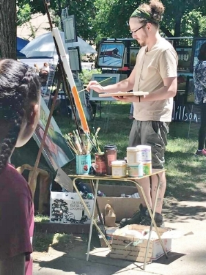 Jacob Bullock, Demonstrating Artist