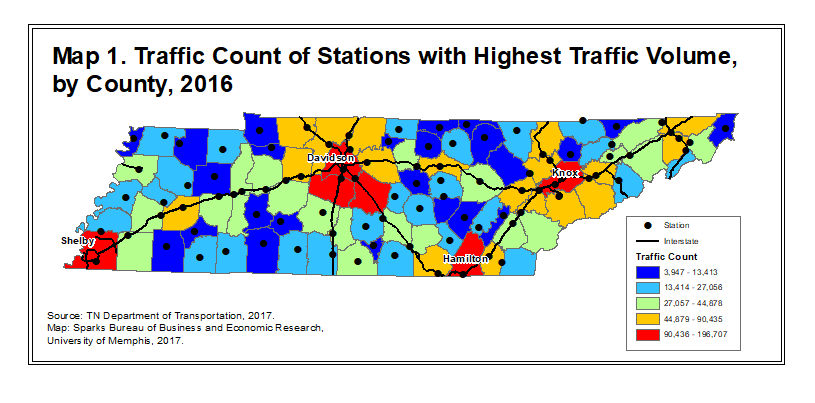 How Do Tennessee Traffic Counts Reflect Recent Economic Progress