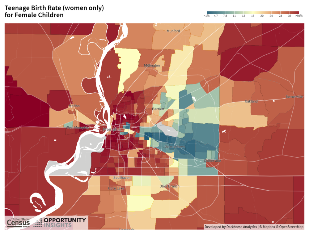 Map 3. Teenage Pregnancy Rates