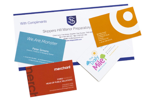 BUSINESS CARDS & STATIONERY Whatever the quantity, we can print, finish and incorporate personalisation.