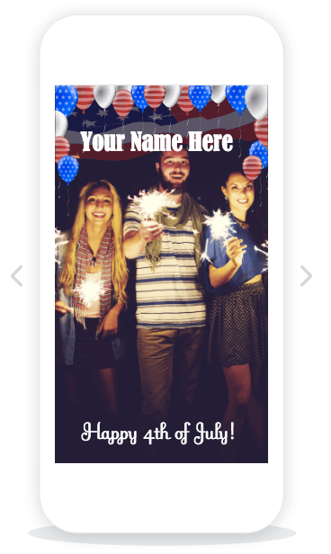 4th Of July Geofilter Templates -