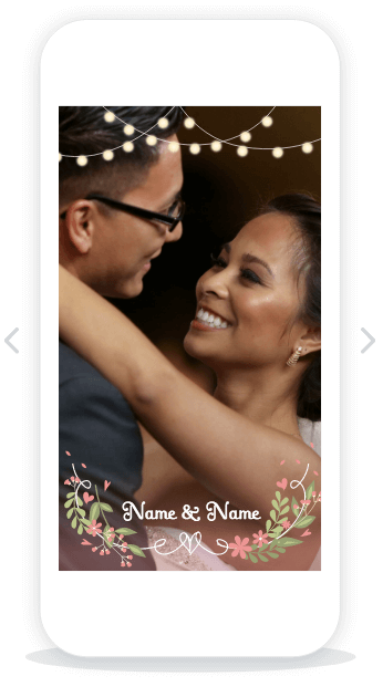 Snapchat Wedding Geofilter Templates - Coming soon